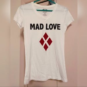 "Harley Quinn ""MAD LOVE"" shirt size large 🃏♦️🖤"